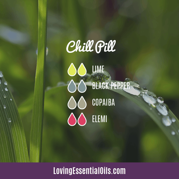 Copaiba Diffuser Benefits by Loving Essential Oils | Chill Pill with lime, black pepper, copaiba, elemi