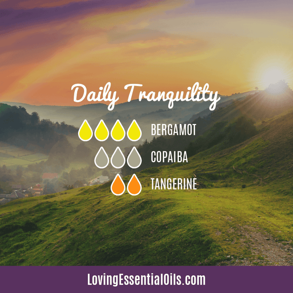 Diffusing Copaiba Essential Oil by Loving Essential Oils | Daily Tranquility with bergamot, copaiba, and tangerine