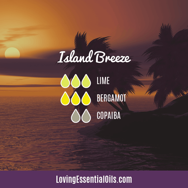 Diffusing Copaiba Essential Oil by Loving Essential Oils | Island Breeze with Lime, Bergamot, and Copaiba