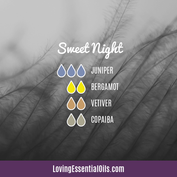 Copaiba Essential Oil Diffuser Blends by Loving Essential Oils | Sweet Might with juniper berry, bergamot, vetiver and copaiba