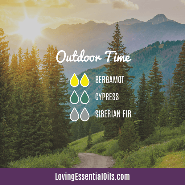 Cypress Essential Oil Diffuser Blend - Outdoor Time by Loving Essential Oils with bergamot, cypress and siberian fir oil
