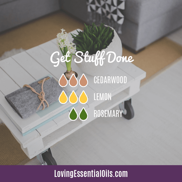 Essential Oil Diffuser Blends For Monday - Get Stuff Done