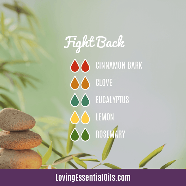 Diffuser Blends for Sore Throat - Fight Back by Loving Essential Oils