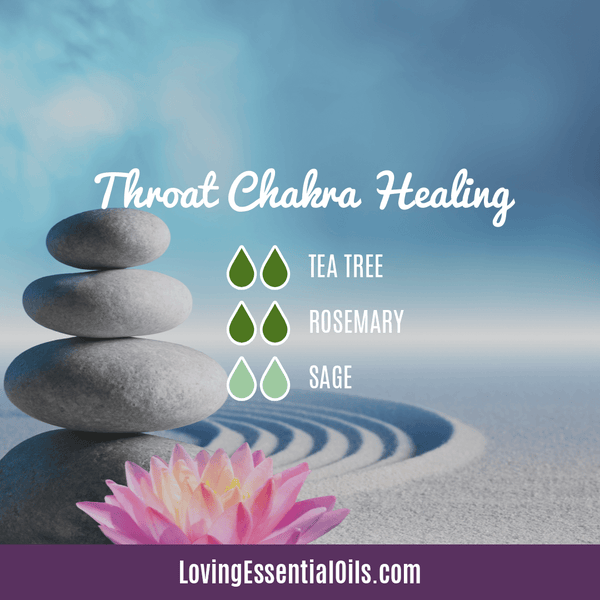 Diffuser Blends for Sore Throat Chakra Healing - Throat by Loving Essential Oils