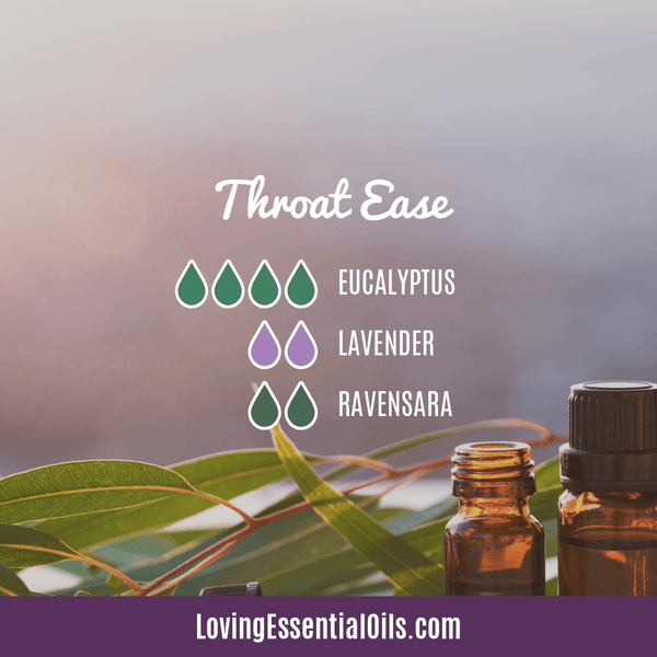 Diffuser Blends for Sore Throat - Throat Ease by Loving Essential Oils