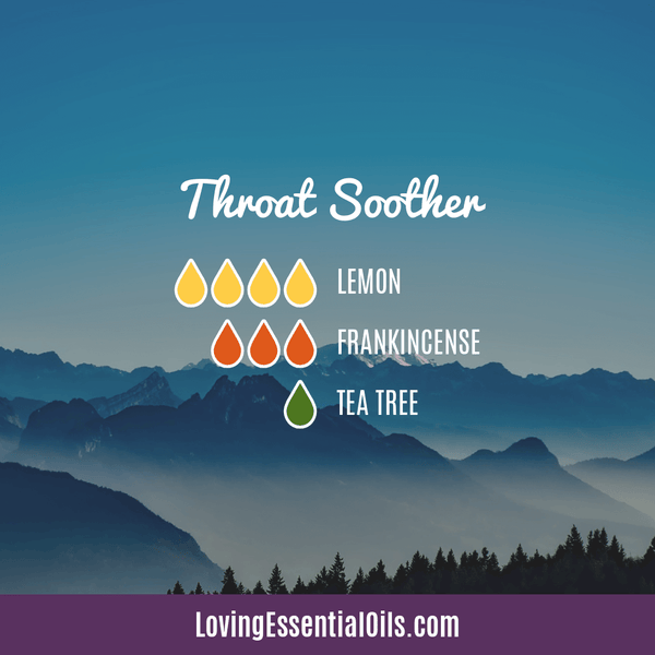 Diffuser Blends for Sore Throat - Throat Soother by Loving Essential Oils
