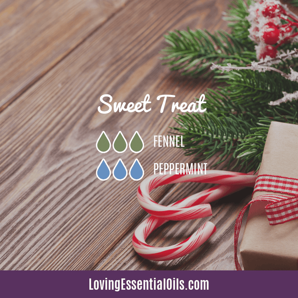 diffuser blends for winter - sweet treat with fennel and peppermint