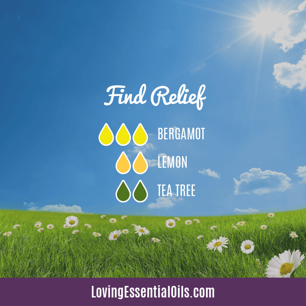 Diffusing Essential Oils for Allergies - Find Relief by Loving Essential Oils with bergamot, Lemon and tea tree oil