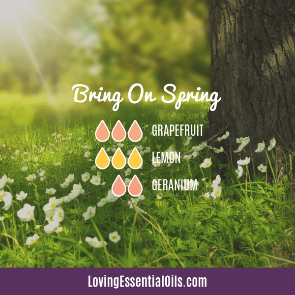 6 Egg-citing Easter Diffuser Blends To Enjoy by Loving Essential Oils | Bring on Spring diffuser blend with grapefruit, lemon and geranium essential oils