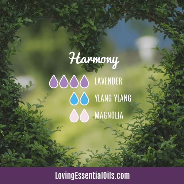 Essential Oil Blend for Anxiety Relief - Harmony by Loving Essential Oils with lavender, ylang ylang, and magnolia