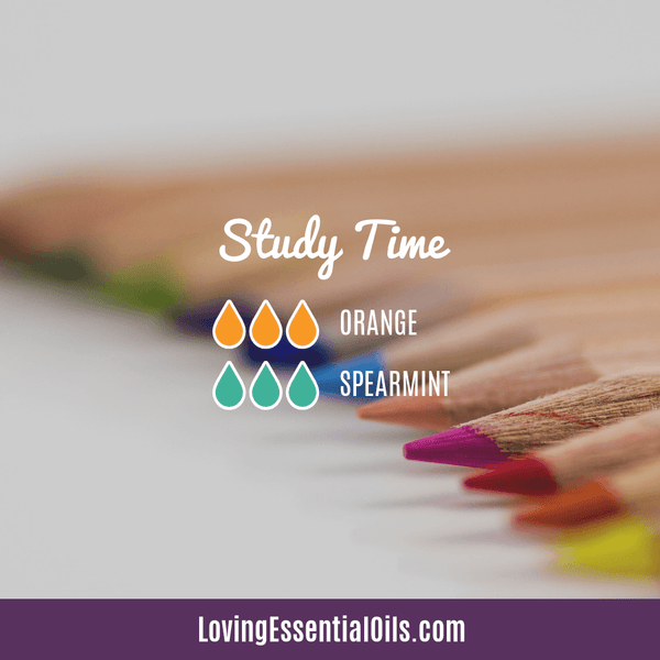 Essential oil blend for home school study time by Loving Essential Oils with orange and spearmint