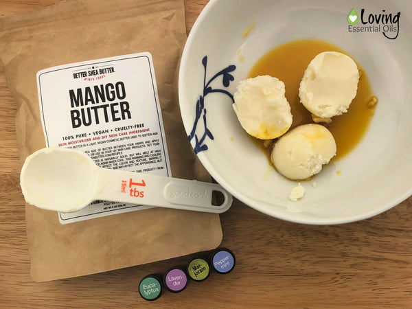 Essential Oil Blend for Pain - Pain Butter Recipe Step One by Loving Essential Oils