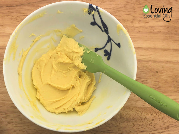 Essential Oil Blend for Pain - Pain Butter Recipe Step Five by Loving Essential Oils