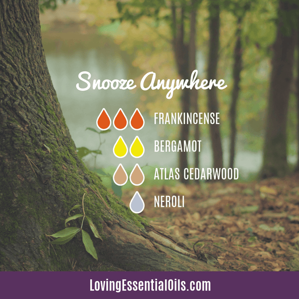 Essential oil blend for Sleep - Snooze Anywhere by Loving Essential Oils with frankincense