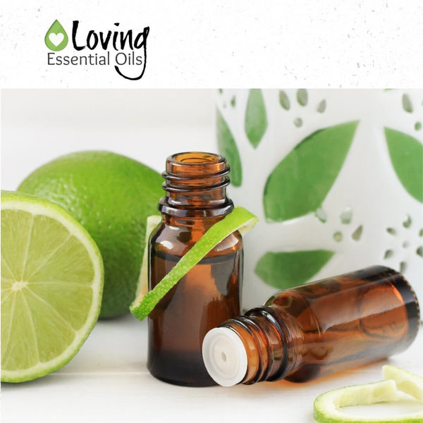 Essential oil diffuser blends with lime by Loving Essential Oils