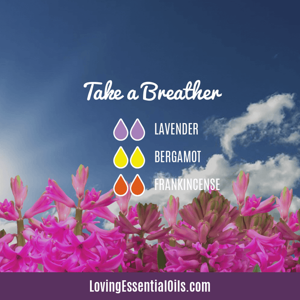 Take a Breather Diffuser Blend - 12 Essential Oils Diffuser Benefits for Health & Wellness by Loving Essential Oils
