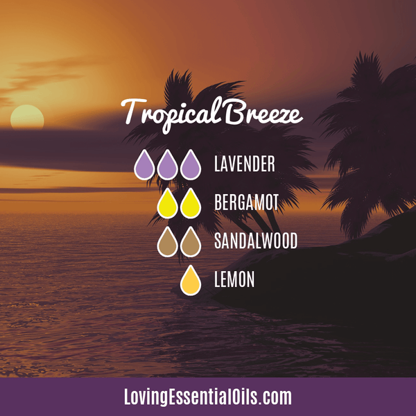 Tropical Breeze Diffuser Blend - 12 Essential Oils Diffuser Benefits for Health & Wellness by Loving Essential Oils