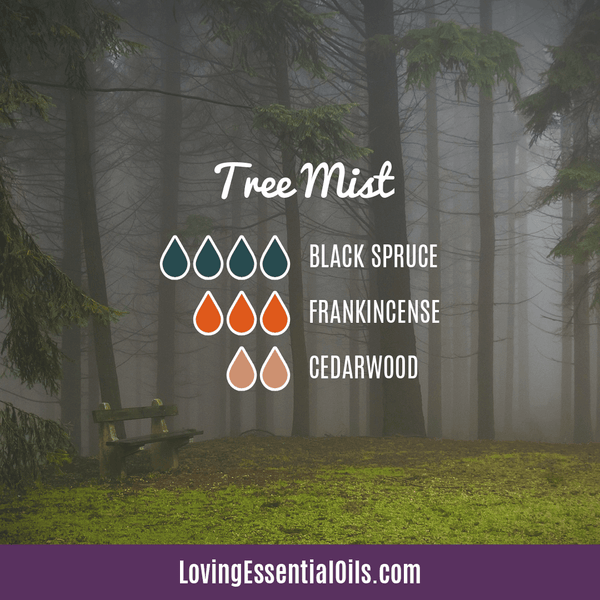 Essential Oils for Allergies - Tree Mist by Loving Essential Oils with black spruce, frankincense and cedarwood