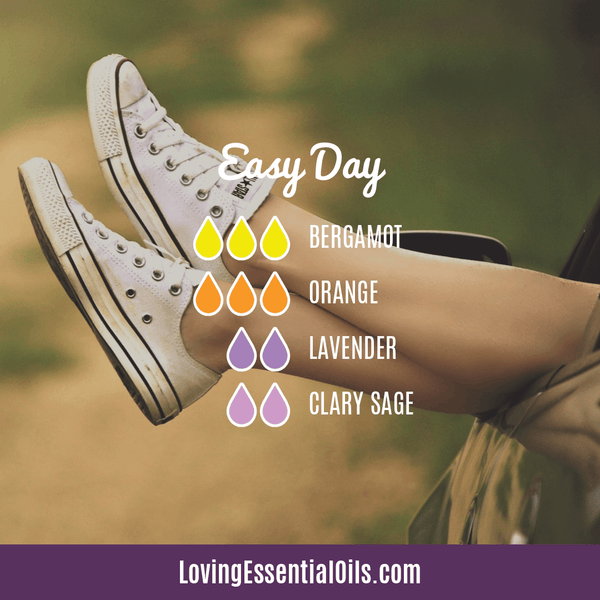 Essential Oils for Anxiety by Loving Essential Oils | Easy Day Recipe with Bergamot, Orange, Lavender, and Clary Sage