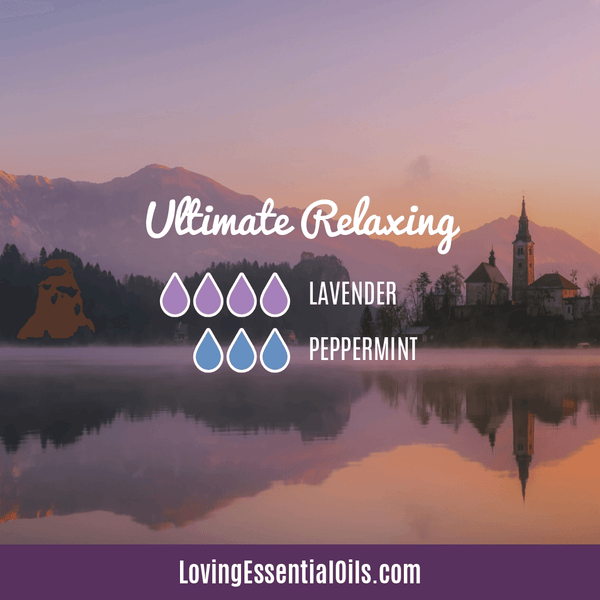 Essential Oils for Hangovers - Ultimate Relaxing Diffuser Blend with lavender and peppermint