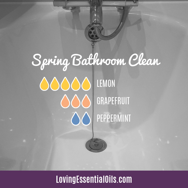Top 10 Essential Oils for the Bathroom with Recipes! Spring Bathroom Clean Diffuser Blend by Loving Essential Oils