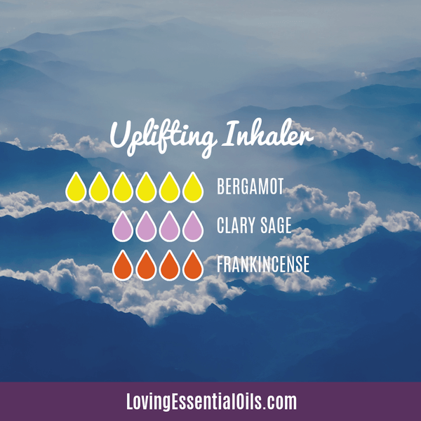 Essential oils for uplifting the mood inhaler blend by Loving Essential Oils