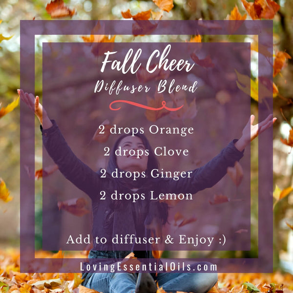 10 Fall Diffuser Blends - Wonderful Scents of the Season! by Loving Essential Oils | Fall Cheer with orange, clove, ginger, lemon