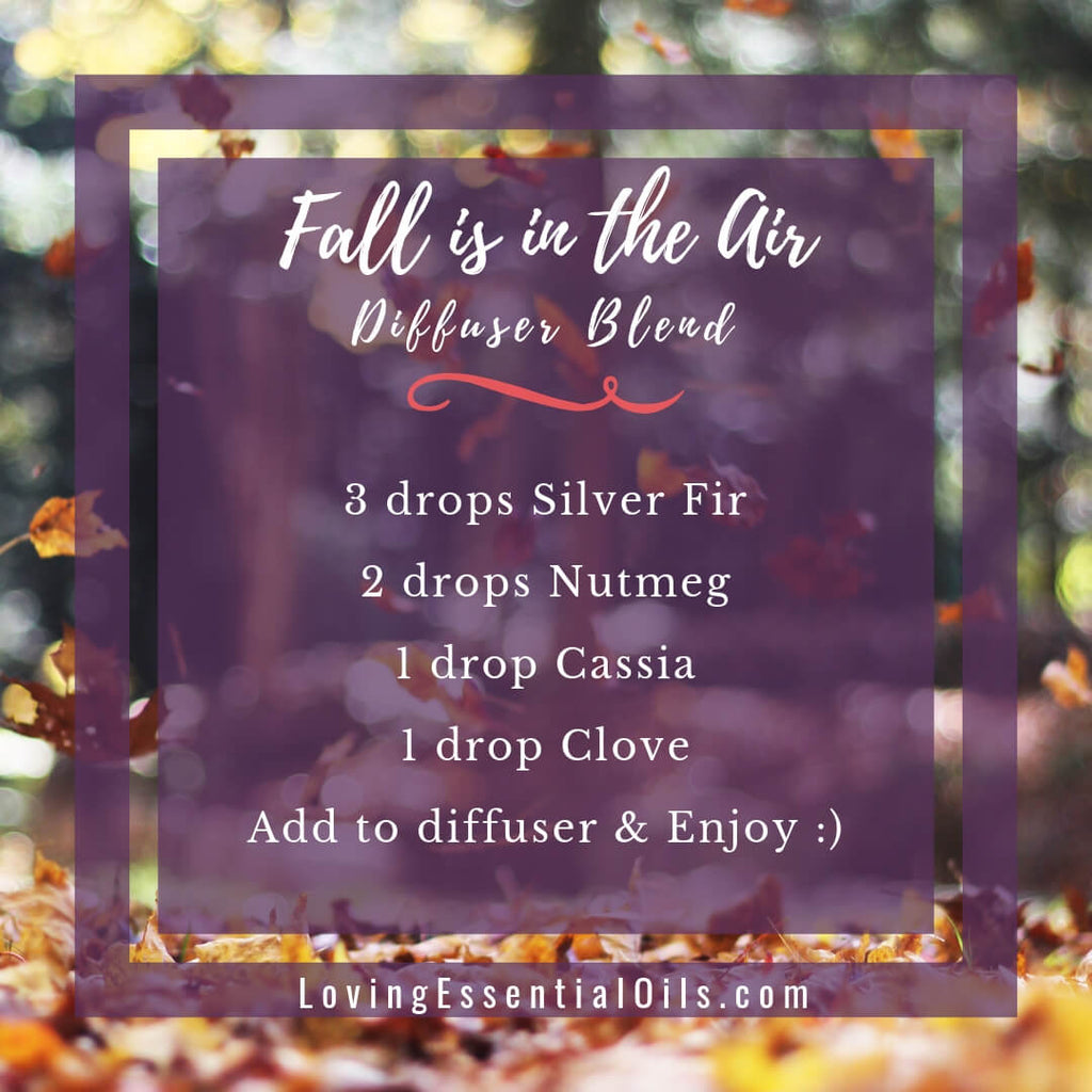 Fall is in the Air Diffuser Blend with Silver fir, nutmeg, cassia and clove essential oils! by Loving Essential Oils