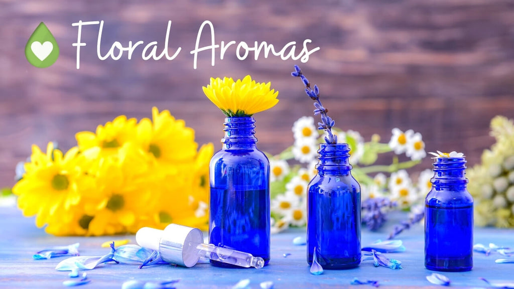 Floral Aromas to use with aromatherapy and essential oil by Loving Essential Oils