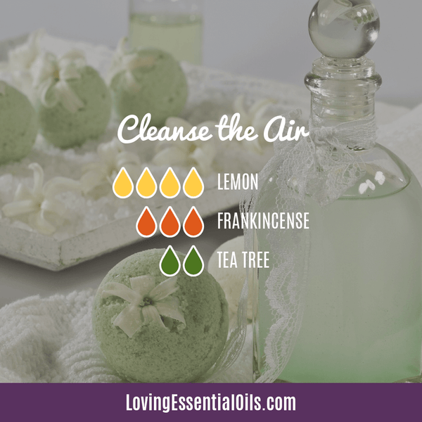 10 Frankincense Diffuser Blends for Health & Wellness by Loving Essential Oils | Cleanse the Air with lemon, frankincense, and tea tree
