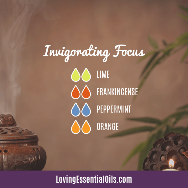 10 Frankincense Diffuser Blends for Health & Wellness by Loving Essential Oils | Invigorating Focus with lime, frankincense, peppermint, and orange