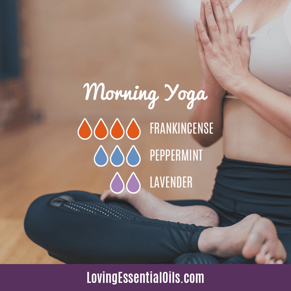 10 Frankincense Diffuser Blends for Health & Wellness by Loving Essential Oils | Morning Yoga with frankincense, peppermint, and lavender