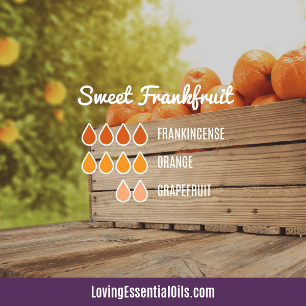 10 Frankincense Diffuser Blends for Health & Wellness by Loving Essential Oils | Sweet Frankfruit with frankincense, orange, and grapefruit