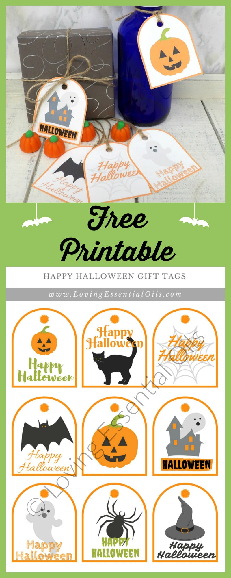 Free printable halloween gift tags loving essential oils free printable halloween gift tags negle Image collections