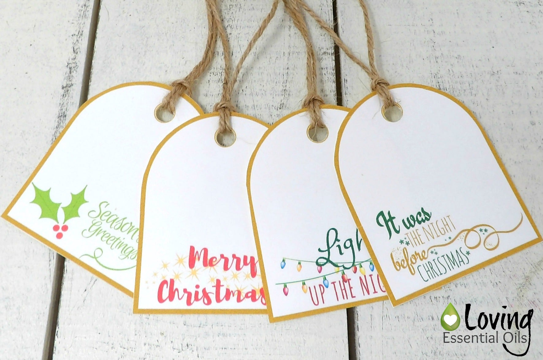 Tagged Messages: Free Printable Holiday Gift Tags