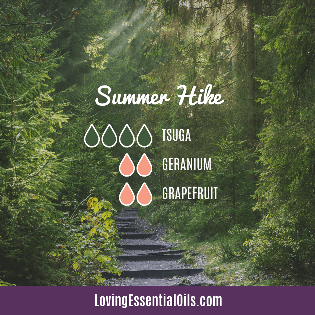 Geranium Diffuser Blend Recipe - Summer Hike by Loving Essential Oils