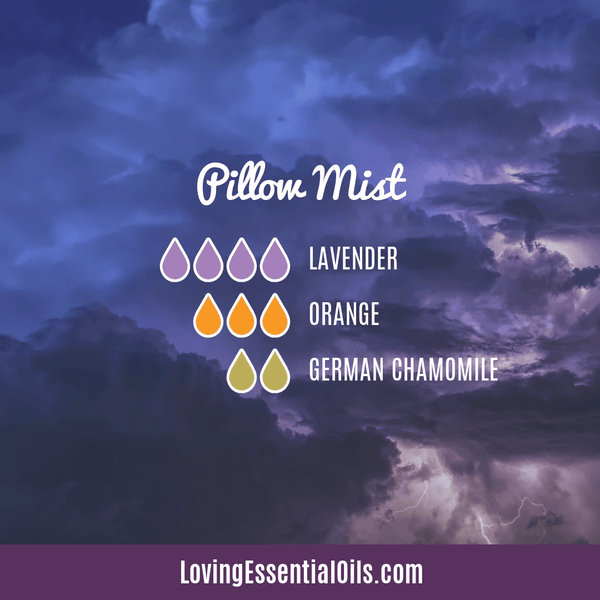 German Chamomile Diffuser Blend - Pillow Mist by Loving Essential Oils with lavender and orange oil.