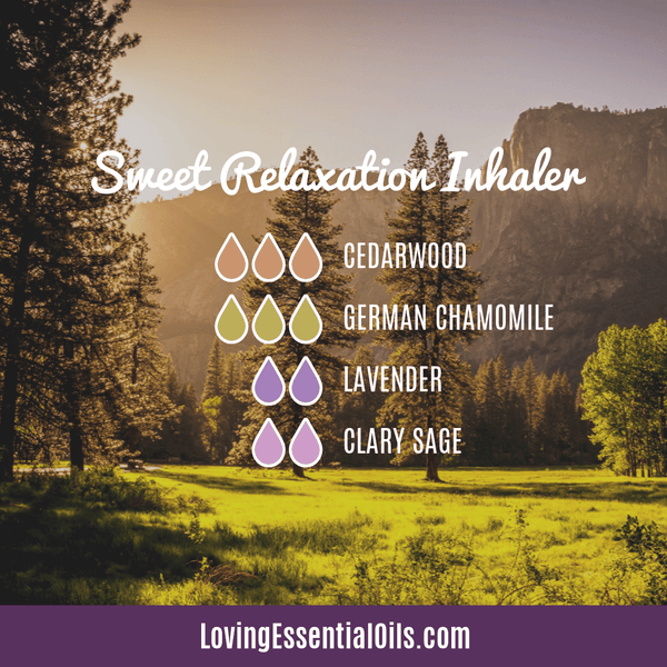 German Chamomile Inhaler Blend - Sweet Relaxation by Loving Essential Oils with cedarwood, lavender, and clary sage oil