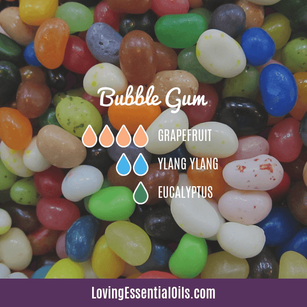 Grapefruit Essential Oil Blends - Bubble Gum Diffuser Recipe by Loving Essential Oils