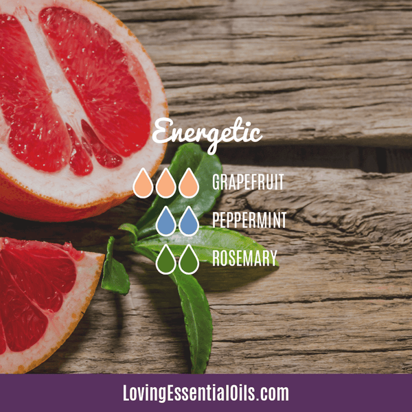 Grapefruit Essential Oil Blends - Energetic Diffuser Recipe by Loving Essential Oils