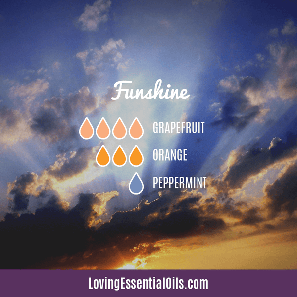 Grapefruit Essential Oil Blends - Funshine Diffuser Recipe by Loving Essential Oils