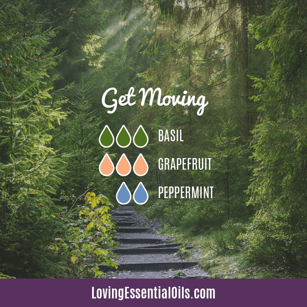 Grapefruit Essential Oil Blends - Get Moving Diffuser Recipe by Loving Essential Oils
