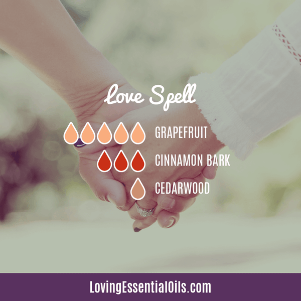 Grapefruit Essential Oil Blends - Love Spell Diffuser Recipe by Loving Essential Oils