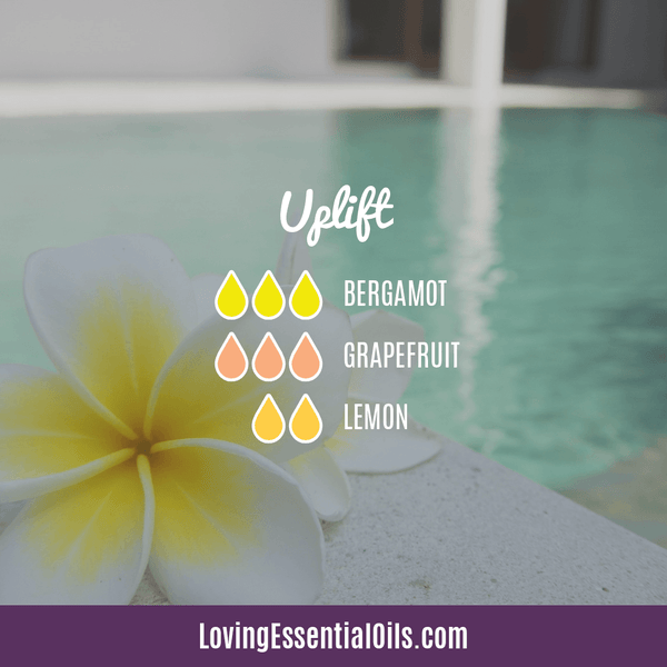 Grapefruit Essential Oil Blends - Uplift Diffuser Recipe by Loving Essential Oils