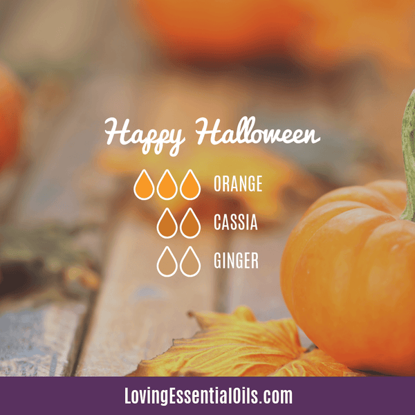 Happy Halloween Diffuser Blend by Loving Essential Oils with Orange, Clove and Ginger