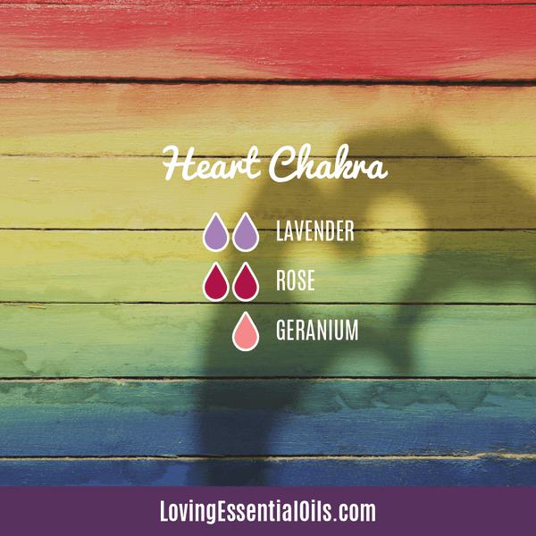 Heart Chakra Essential Oils - Open Up to Love & Compassion by Loving Essential Oils | Diffuser Blend with lavender, rose and geranium essential oil