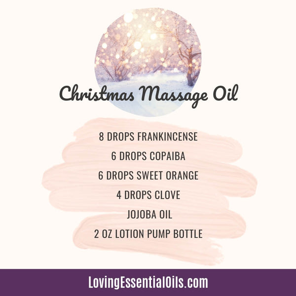 Holiday Scented Oils to Enjoy in this Homemade Christmas Massage Oil Recipe