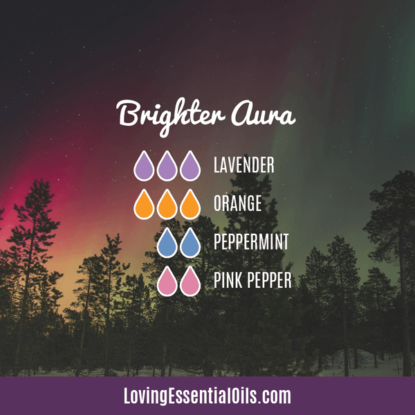 Lavender Diffuser Blends - Promtoe Comfort & Oily Wellness by Loving Essential Oils | Brighter Aura with lavender, orange, peppermint and pink pepper essential oils