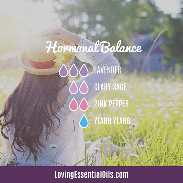 Lavender Diffuser Blends - Promtoe Comfort & Oily Wellness by Loving Essential Oils | Hormonal Balance with lavender, clary sage, pink pepper, and ylang ylang essential oil