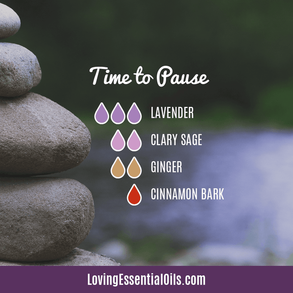 Lavender Diffuser Blends - Promtoe Comfort & Oily Wellness by Loving Essential Oils | Time to Pause with lavender, clary sage, ginger, and cinnamon bark essential oils